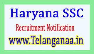 Haryana SSCHSSC Recruitment Notification 2017