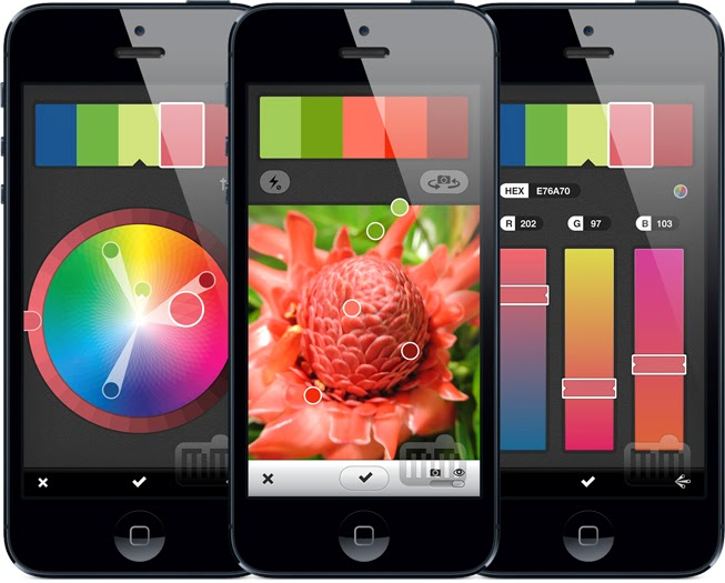 Adobe Kuler App, Kuler App, Explorer color palette, palette, free apps, Adobe, mobile, color palette