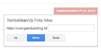 Kirim Sitemap Blog ke Google Webmasters