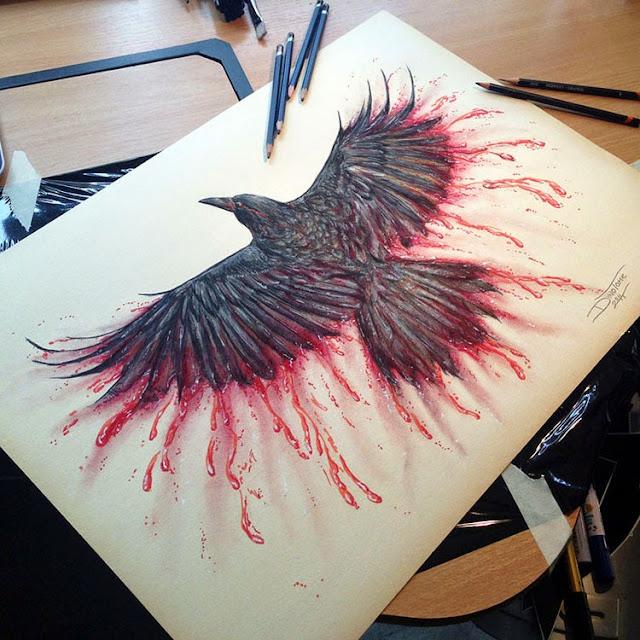 dibujos hiperrealistas hechos con lápices de colores