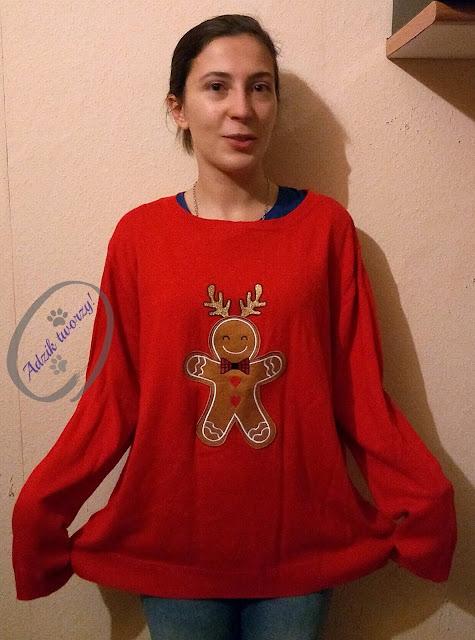 Adzik tworzy - jak zmniejszyć za duży sweter DIY