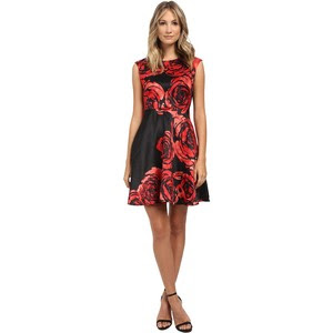Dupioni fit and flare dress, $62.99 from Donna Morgan