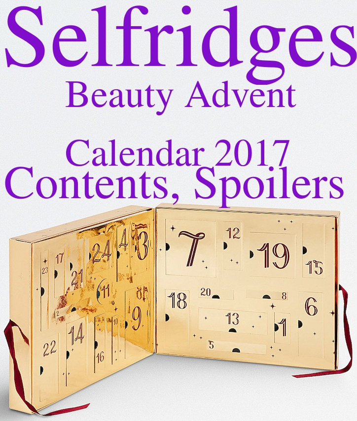 Selfridges Beauty Workshop Advent Calendar 2017 Contents, Spoilers: Ships Worldwide