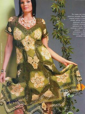 Hermoso vestido a crochet