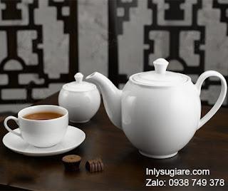 In logo lên ấm trà