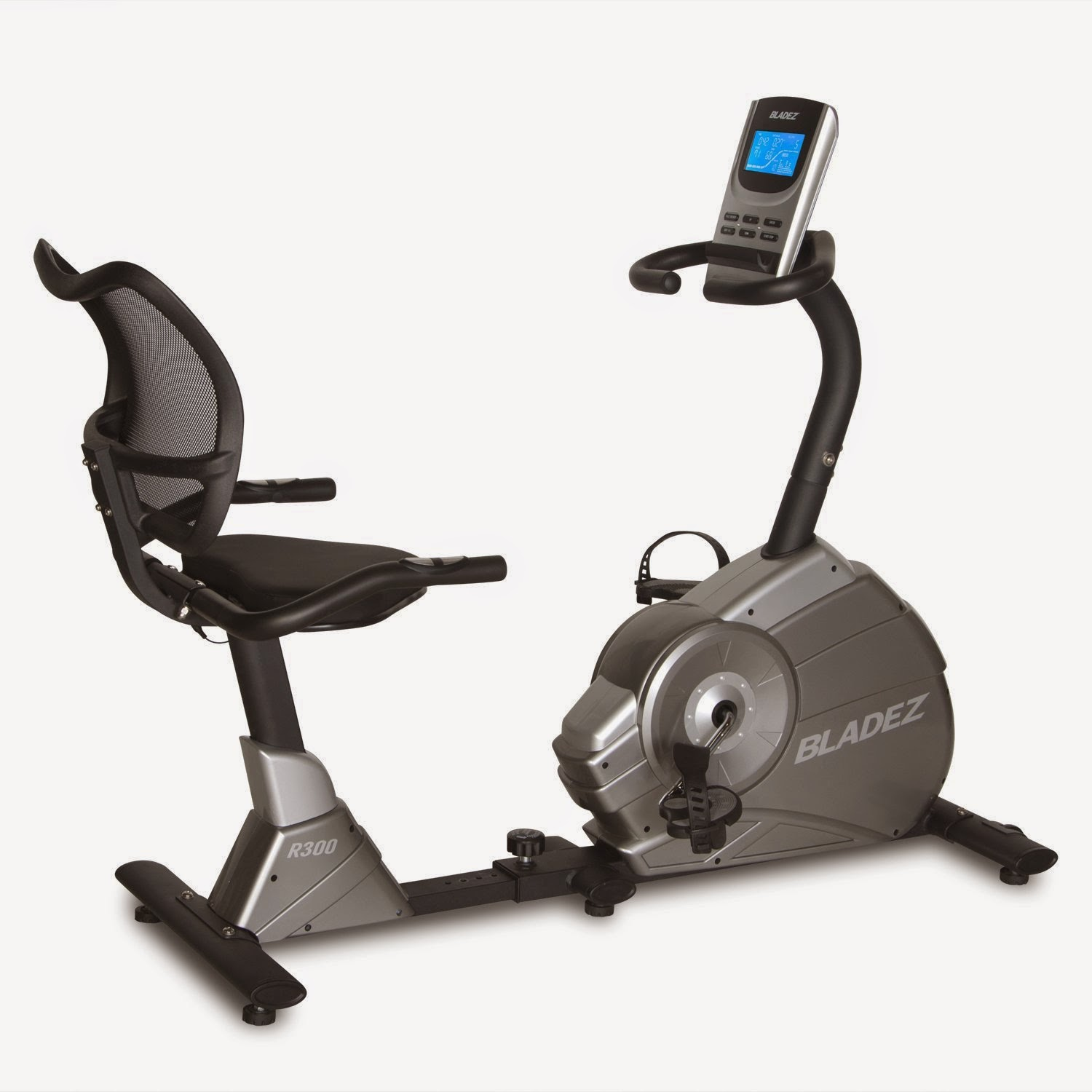 Bladez Fitness R300 Recumbent Bike, 23 workout programs, 16 magnetic resistance levels