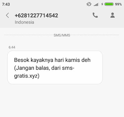 cara sms gratis unlimited di hp 3