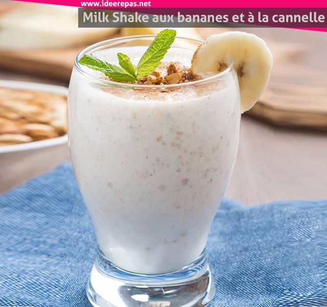 Milkshake aux bananes et à la cannelle