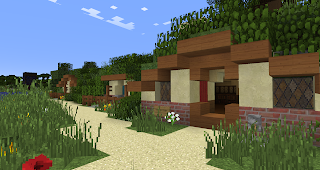 minecraft hobbiton bywater pool side