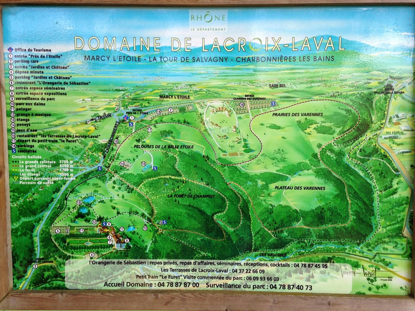 Plan du parc de Lacroix Laval