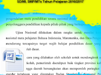 Download Contoh Proposal Try Out Jenjang SD/MI, SMP/MTs Tahun Pelajaran 2016/2017
