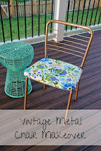 Strawberry Jam House Vintage Metal Chair Makeover