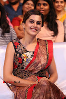 Tapsee Pannu Latest Stills in Red Silk Saree at Anando hma Pre Release Event .COM 0079.JPG
