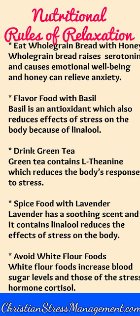 Nutritional relaxation tips