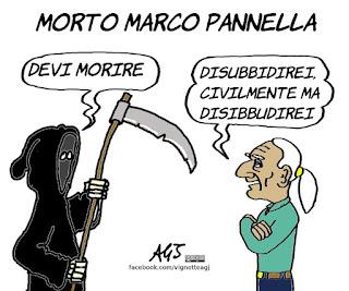 Pannella, disobbedienza civile, satira, vignetta