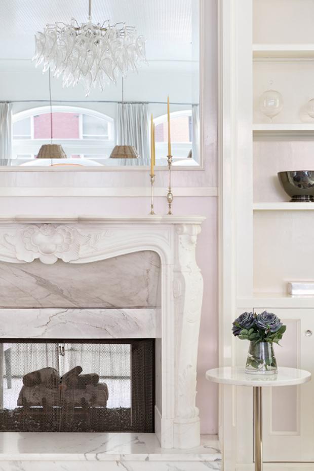 Marble Fireplace   Manhattan Loft Penthouse - Gwyneth Paltrow