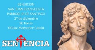 La Sentencia de Málaga bendice la nueva imagen de San Juan Evangelista