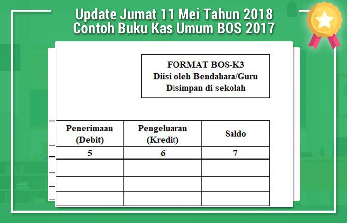 Update Jumat 11 Mei Tahun 2018 Contoh Buku Kas Umum BOS 2017