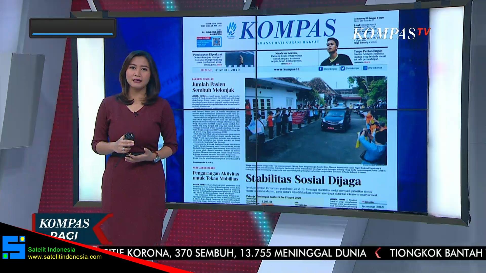 Frekuensi siaran Kompas TV di satelit Telkom 4 Terbaru