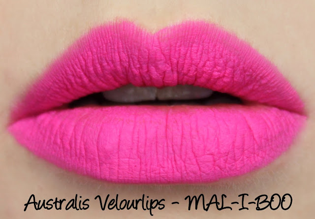 Australis Velour Lips - MA-LI-BOO Swatches & Review