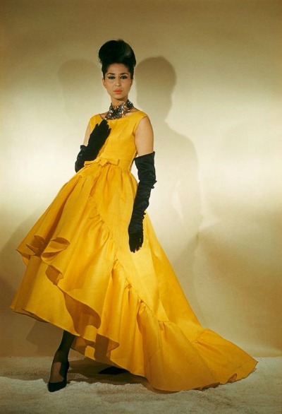China Machado in Balenciaga 1959