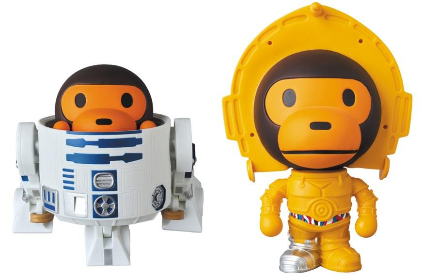 0ee33649 Star Wars x A Bathing Ape Baby Milo Wave 3 Vinyl Figures by Medicom – R2-D2  & C-3PO