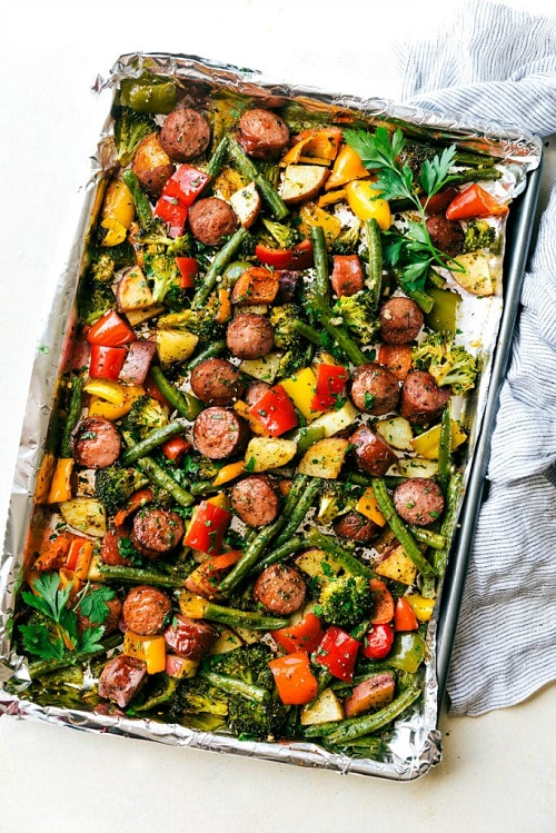 Healthy Sausage and Veggies