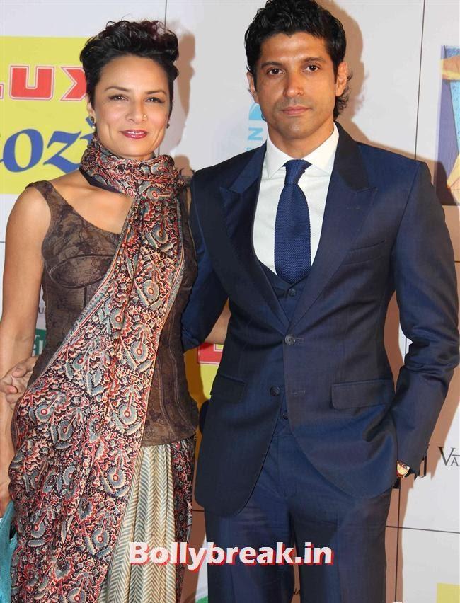 Adhuna Akhtar and Farhan Akhtar, Zee Cine Awards 2014 Red Carpet Pics