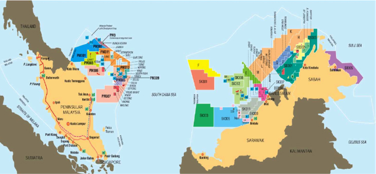 Malaysia Oil and Gas Fields   POWER OIL AND GAS