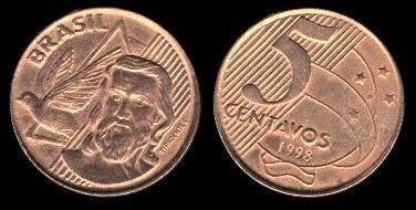 Brazil 5 Centavos (1998+)