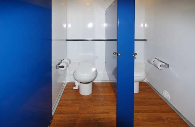 Spacious Bathroom Stalls in Women's Restroom