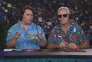 WCW Bash at the Beach 1999 - Tony Schiavone & Bobby 'The Brain' Heenan