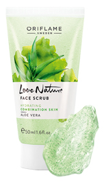 "Oriflame 30150 Facial Scrub ""Aloe Vera"" Love Nature"