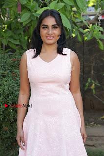 Actress Srushti Dange Stills in Short Dress at Mupparimanam Press Meet  0032.jpg