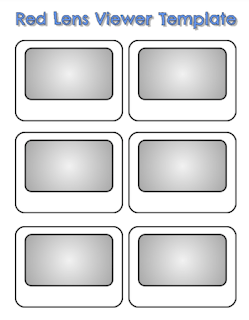 Make Your Own Red Lens Viewer - printable template