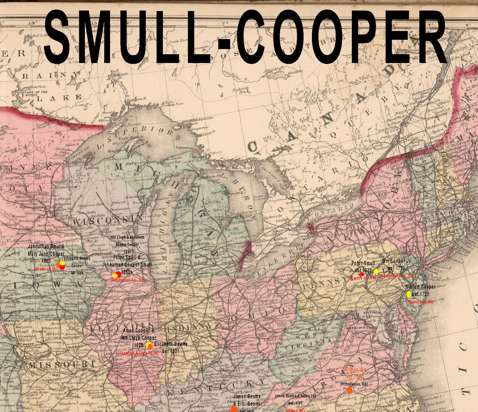 unk smull immigrant who was father to brush valley pa s brothers smull the quaker cooper s of pennsylvania and the quaker beams family of whitley county