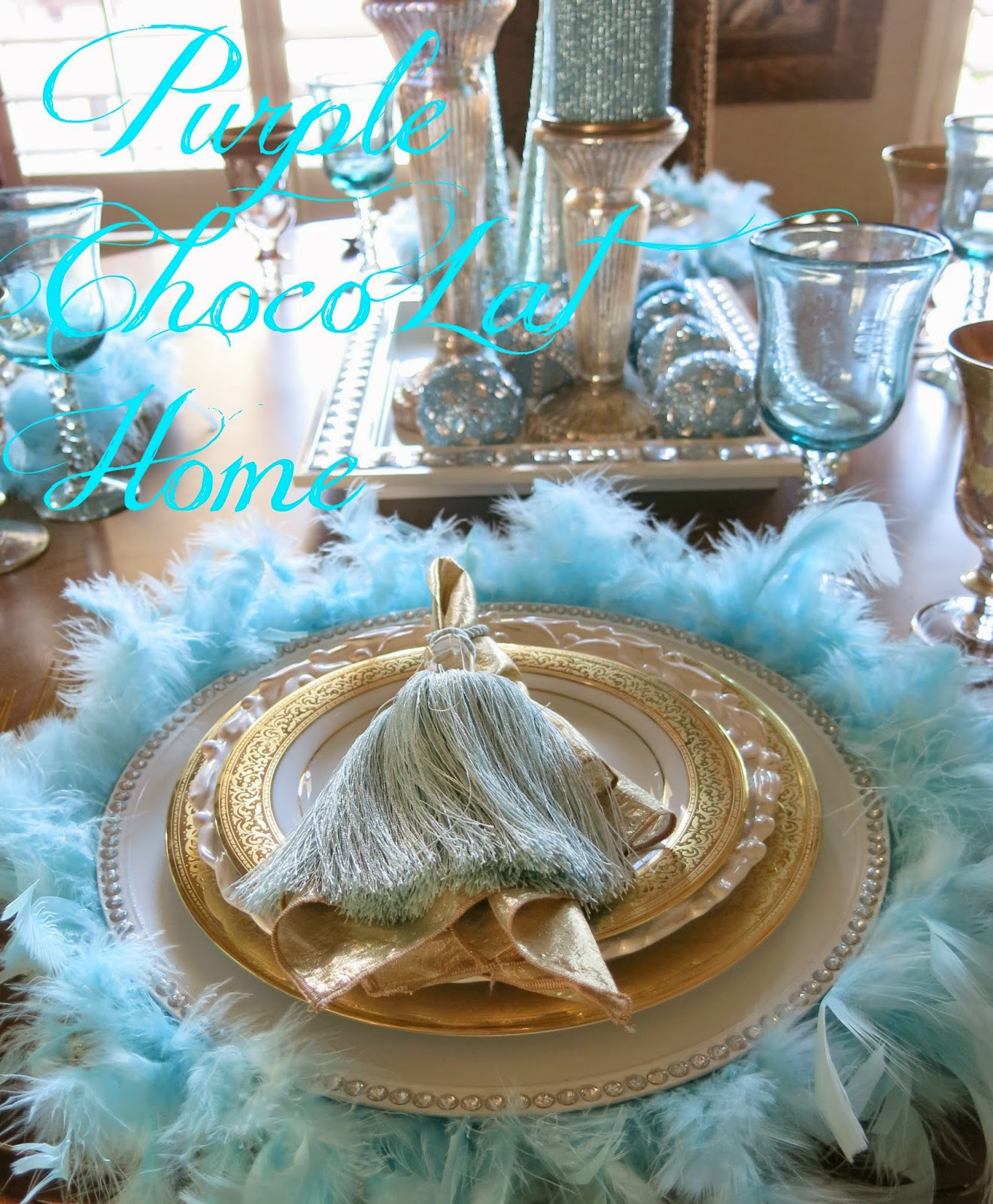 Feather The Nest For Christmas Purple Chocolat Home