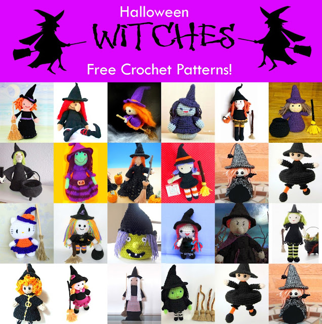 Crochet patterns for Halloween witches!