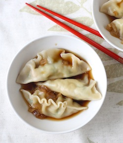dumplings with andrew zimmern's asian sauce recipe