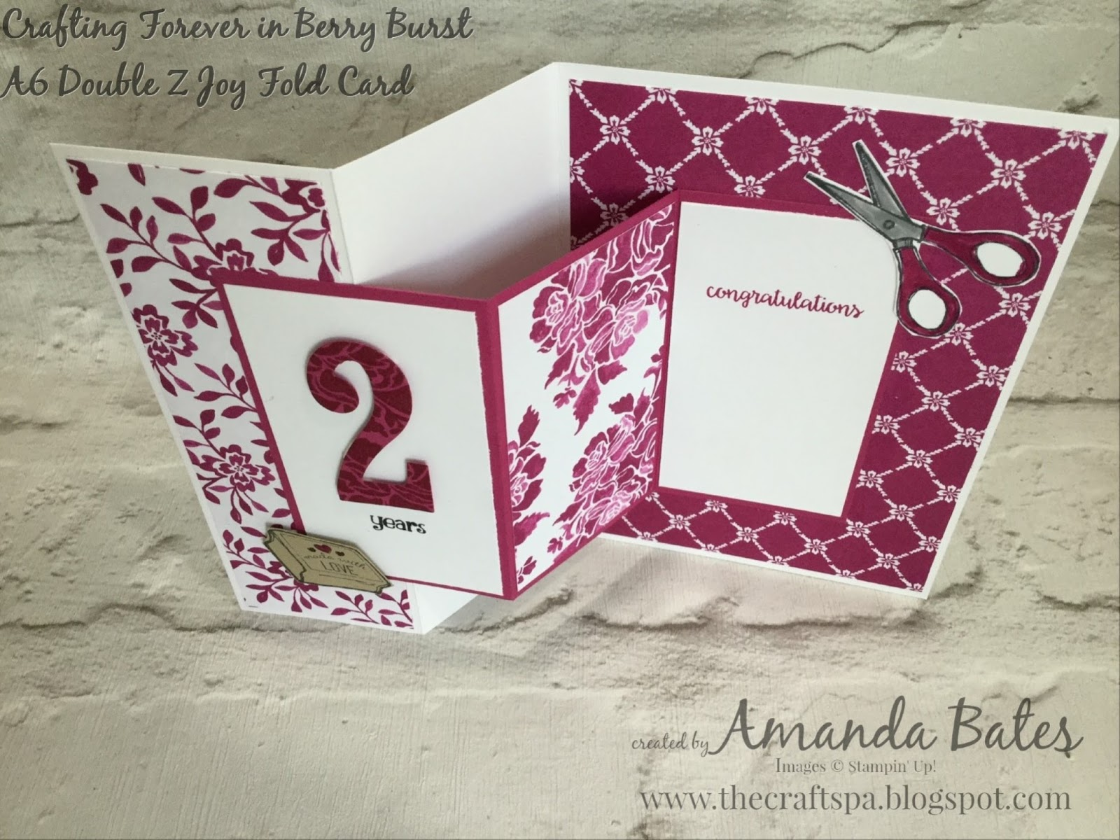 double z fold card instructions