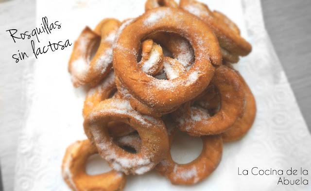 Rosquillas sin lactosa Receta tradicional casera rosquillos