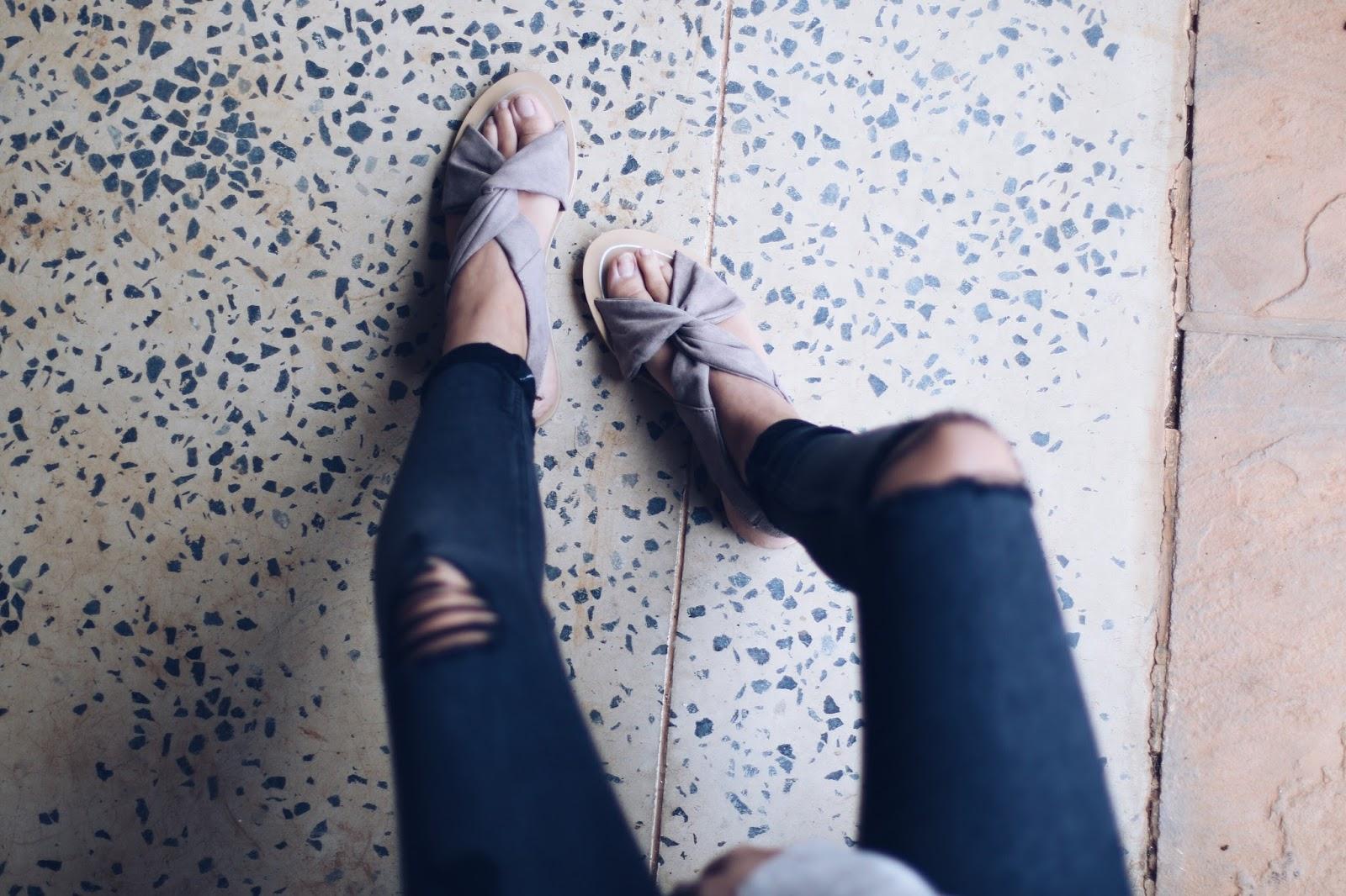 primark spring 2017 sandals, copper garden