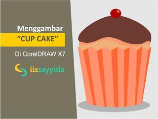 Tutorial Coreldraw x7 cara menggambar Cup Cake