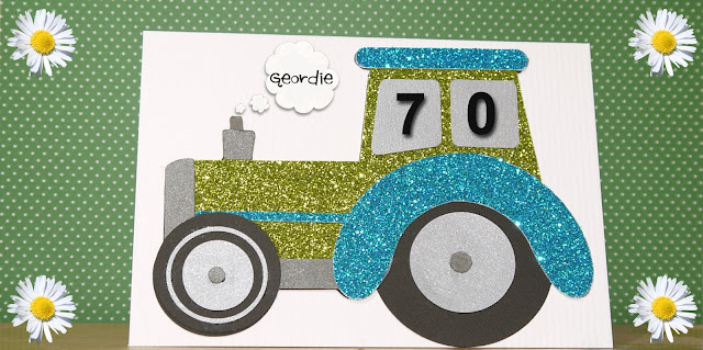 Beginner level - Easy glittered tractor