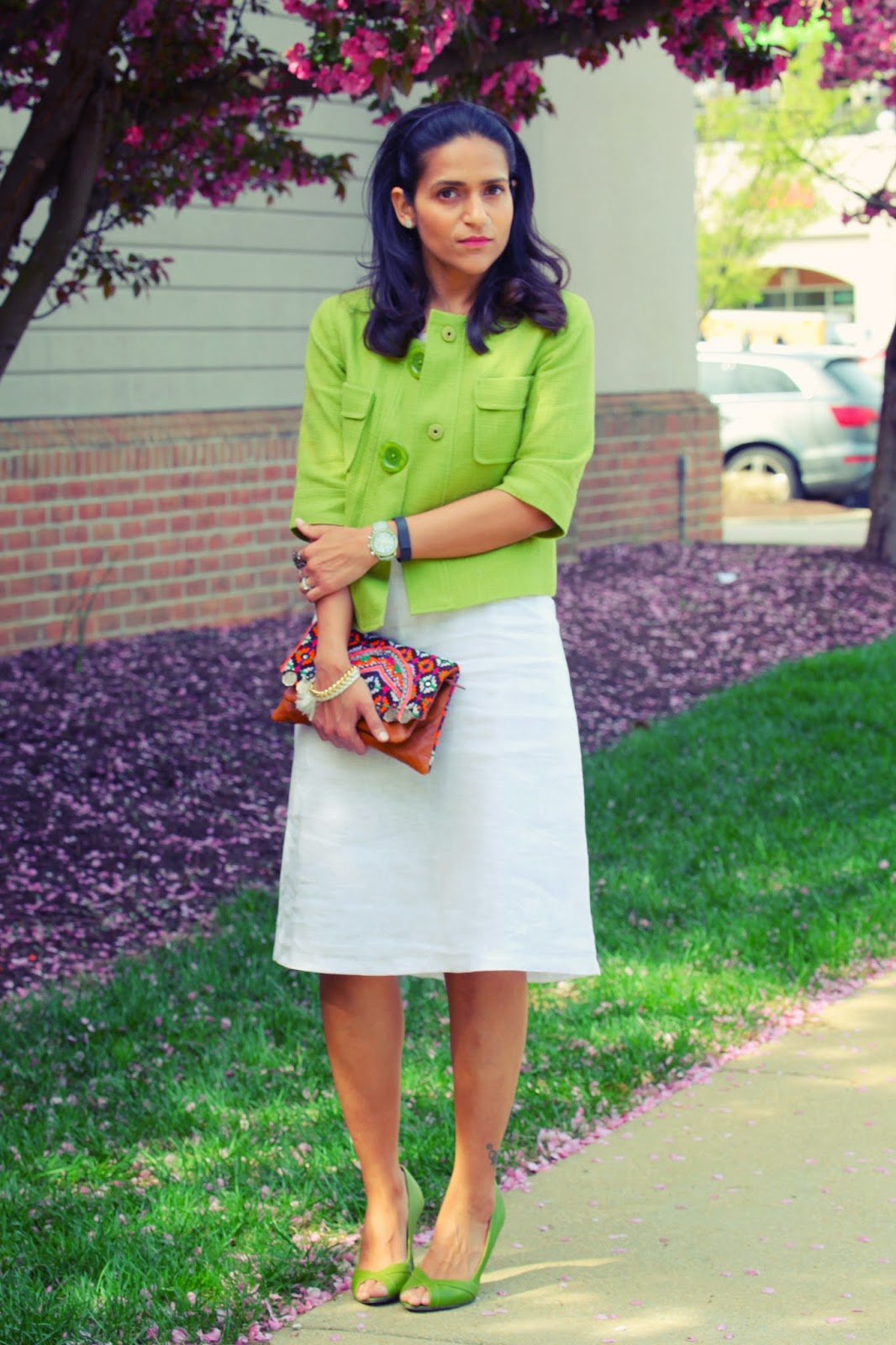 Jacket - Michael Kors Dress - Custom Made in India Shoes - Ted Baker Bag - Crazy & Co.  Bracelet - Shop Jami Tanvii.com