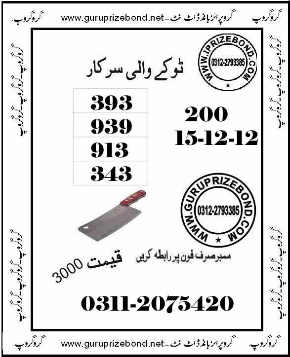 Guru prize bond com free vip and golden paper 17 12 12 peshawer