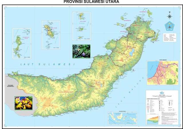 peta sulawesi utara / north sulawesi map
