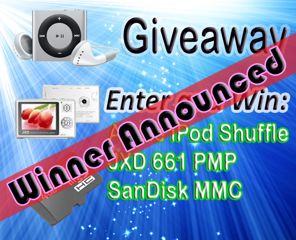 Apple iPod Giveaway Winner Announced...!!