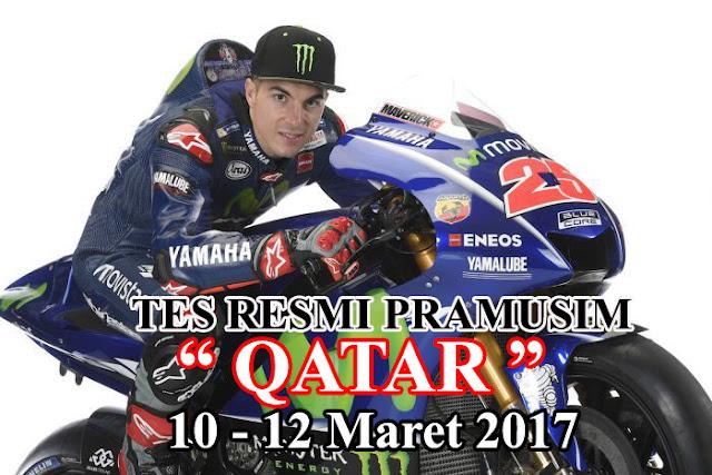 Tes Resmi Pramusim MotoGP 2017 Qatar