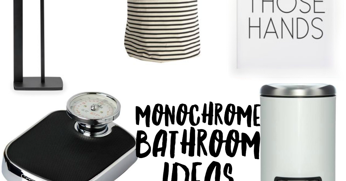 Monochrome bathroom ideas mummy b for Monochromatic bathroom designs